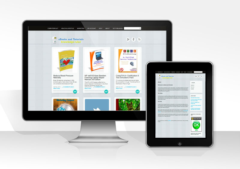 portfolio-ebooksandtutorials ecommerce website
