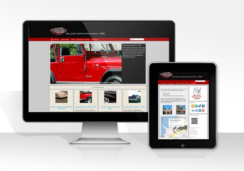 web design and development for a car shop