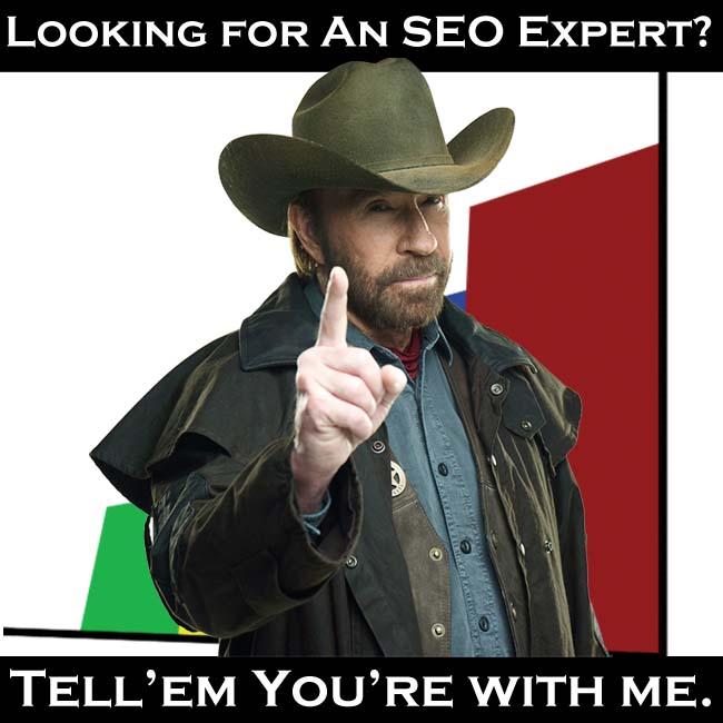 Need an SEO Expert? Tell them Chuck sent you.