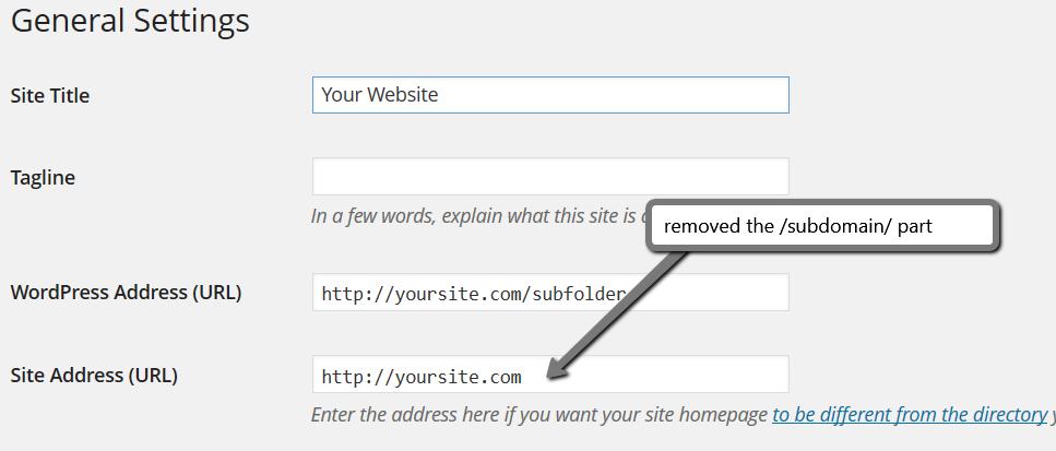 how to install wordpress in subfolder