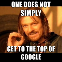 hard to rank number one on google with content marketing