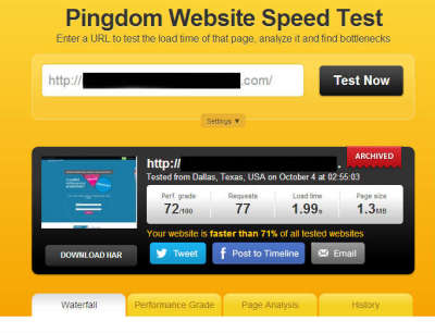 fast website load speed