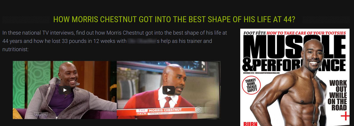 personal trainer testimonial