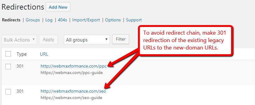 avoid-redirect-chain