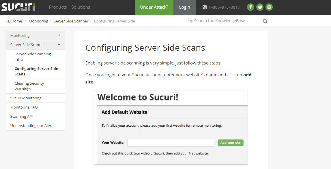 configuring server options