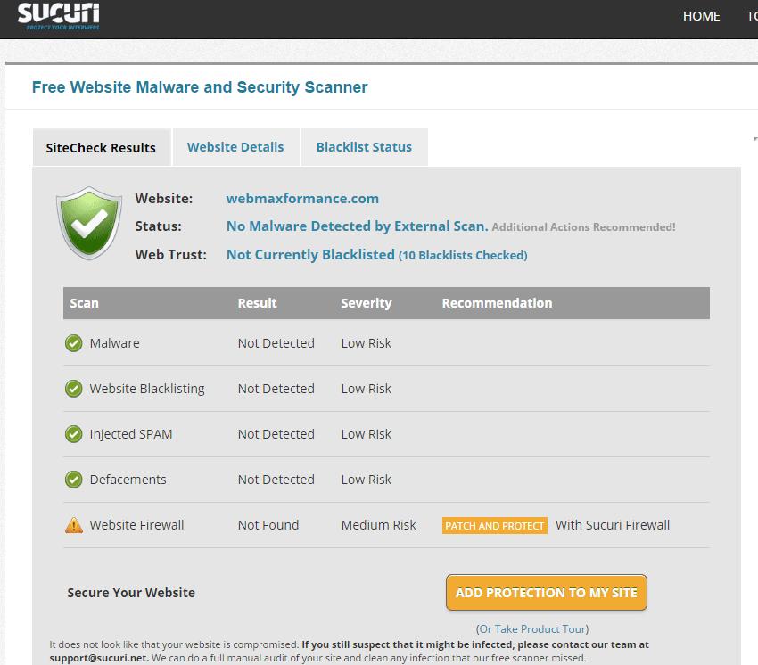 online scanner sucuri