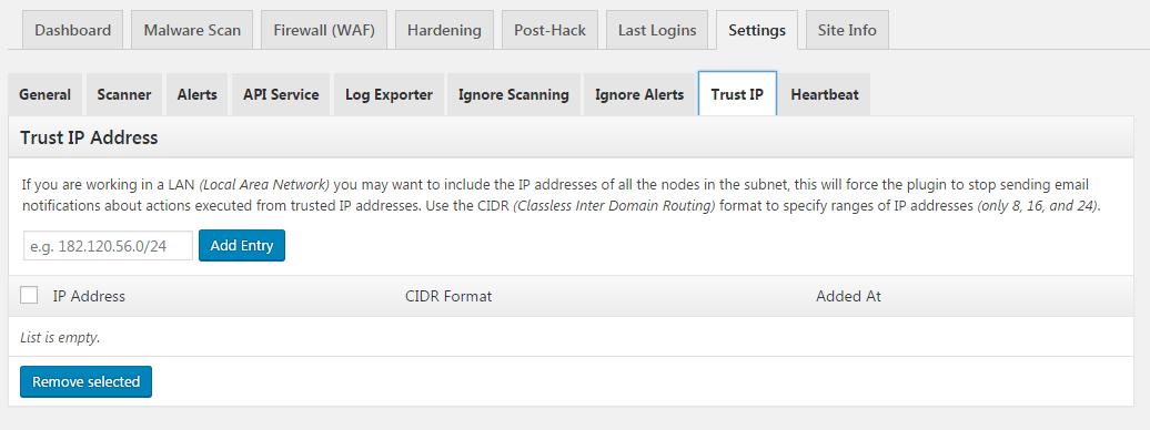 trusted ip addresses