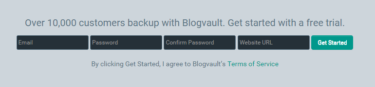 blogVault get started