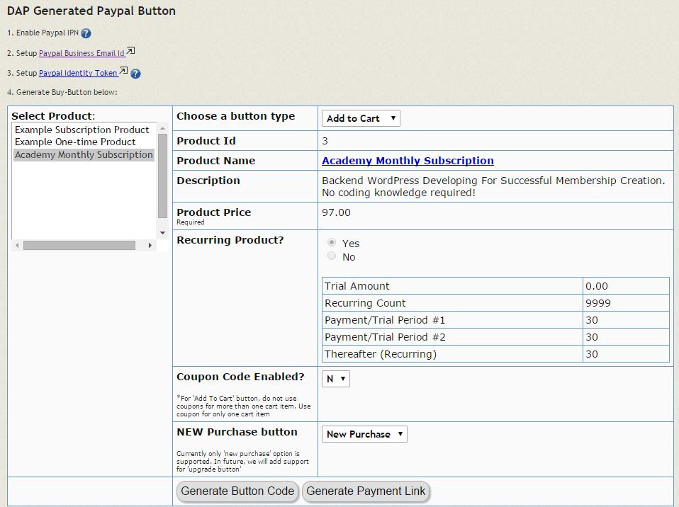 digital access pass order button