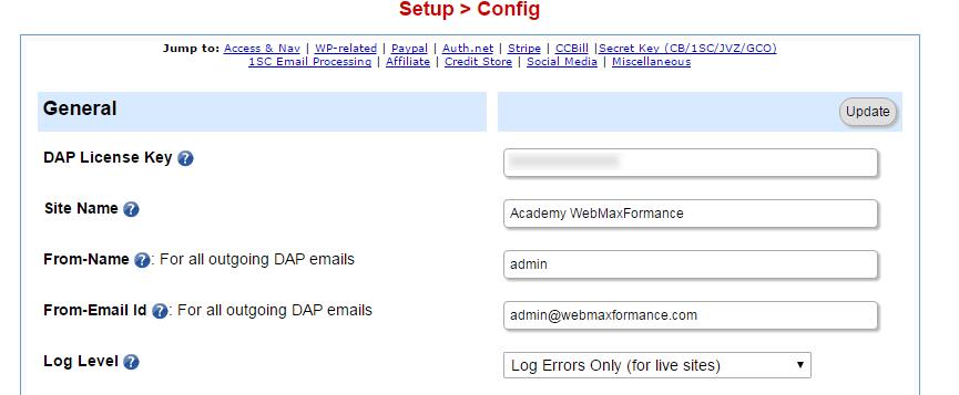 digital access pass setup config