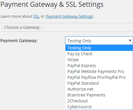 paid membership pro payment gateway
