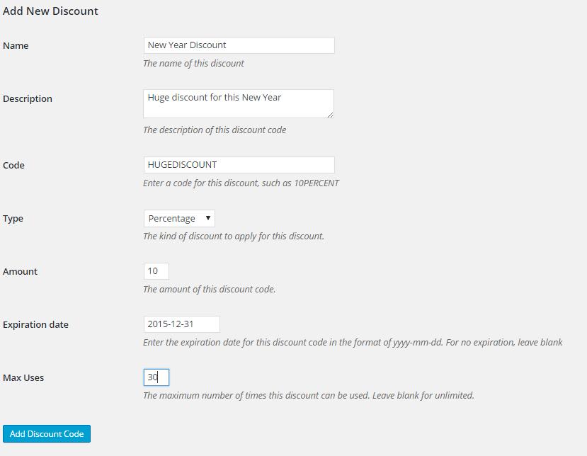 restrict content pro discounts