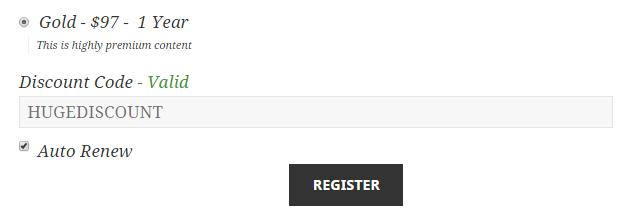 restrict content pro register discount