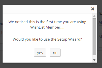 wishlist member wizard