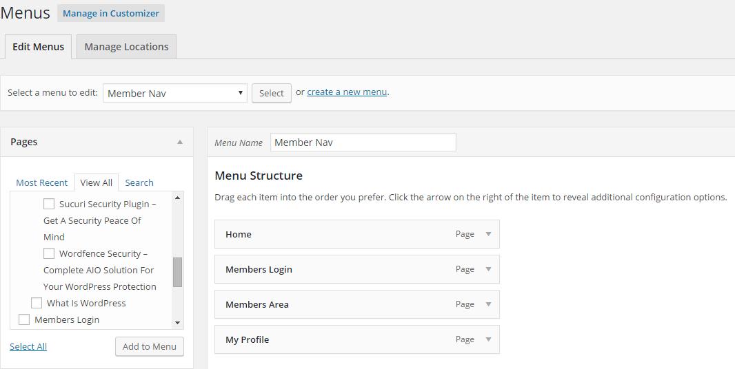 zaxaa member organizing menu