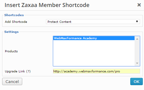 zaxaa member protect partial content shortcode