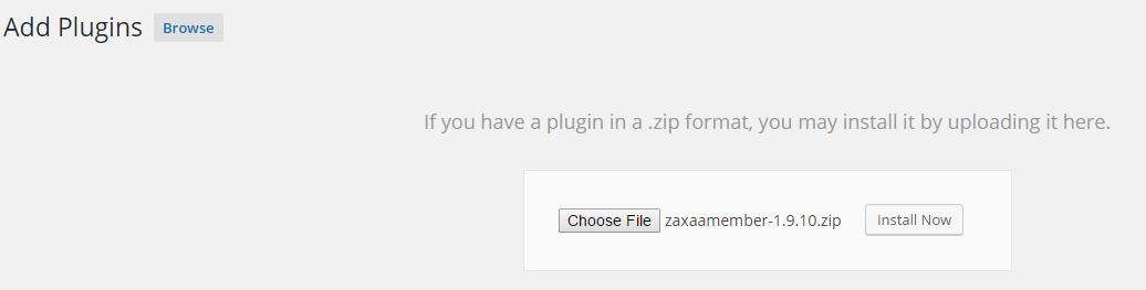 zaxaa member upload plugin