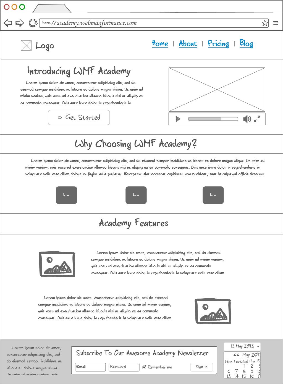 academy webmaxformance mockup