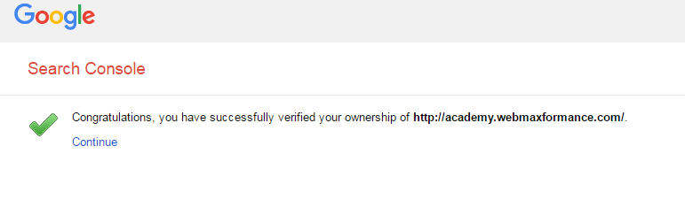congratulations for google-search console verification