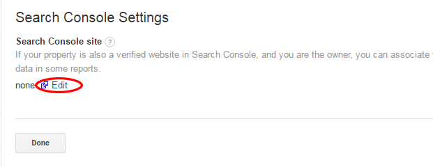 edit adjust search console