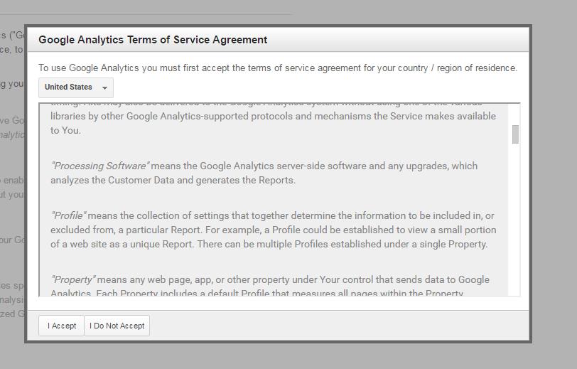 google analytics accept