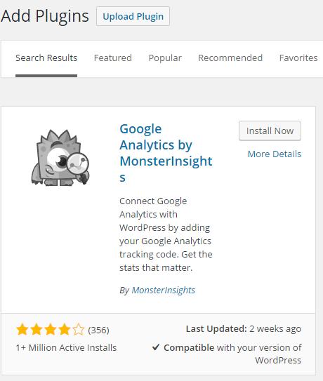 google analytics monsterInsight
