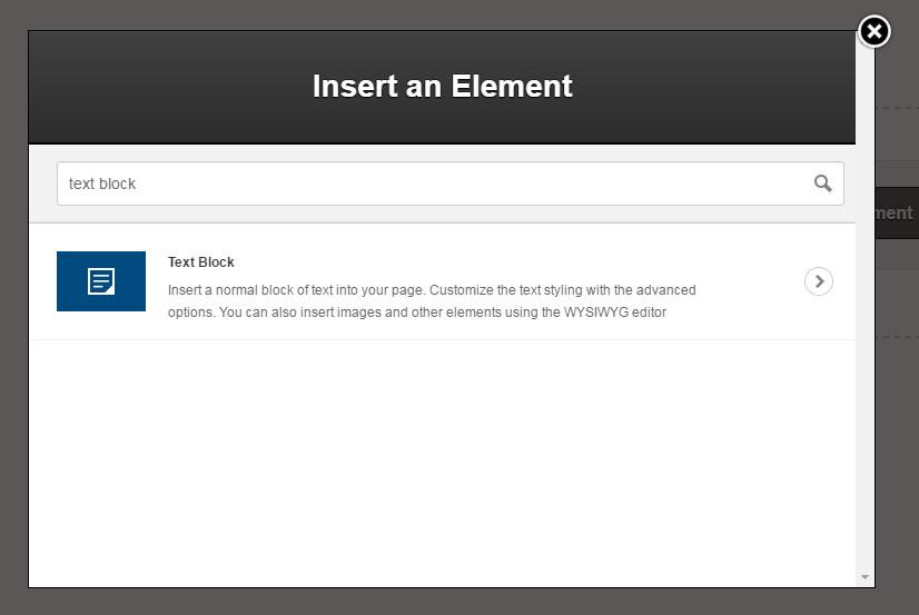 insert text block optimizepress