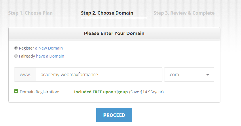 siteground register domain
