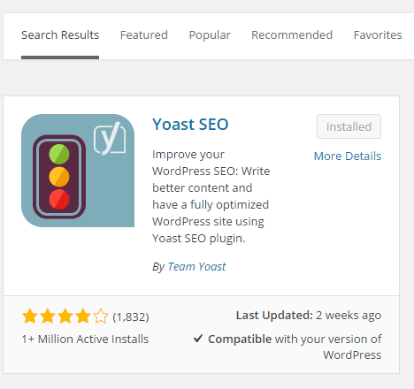 yoast plugin installation