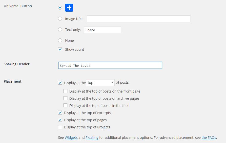 AddToAny universal bitton