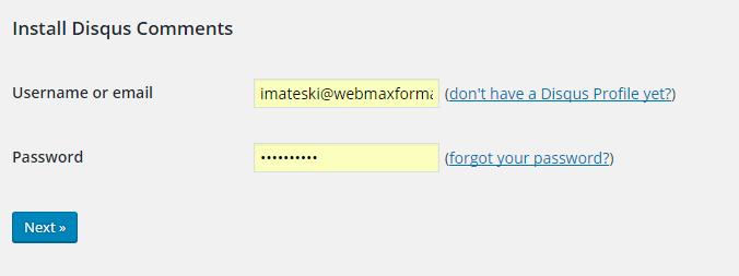 disqus comment system login