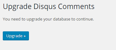 disqus comment system upgrade database
