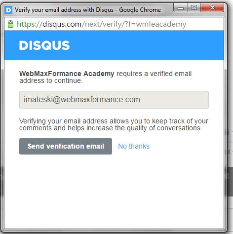 disqus comment system verification