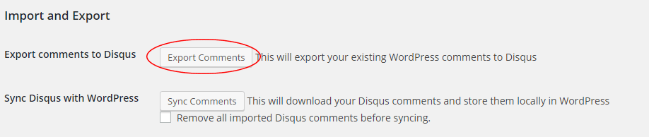 export comments