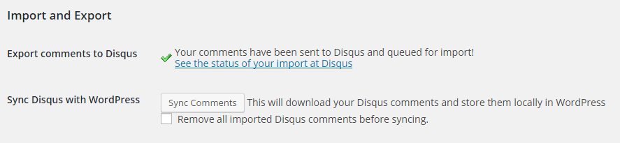 successfully exported comments