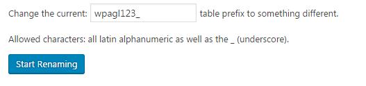 renaming database
