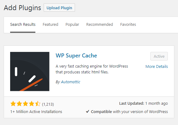 wp-super-cache-installation