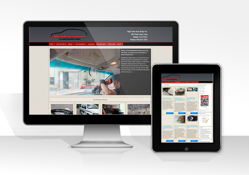 High Tone Auto Body Inc.: Rebranding, Design, Development, SEO, Copywriting, Social Marketing, Consulting