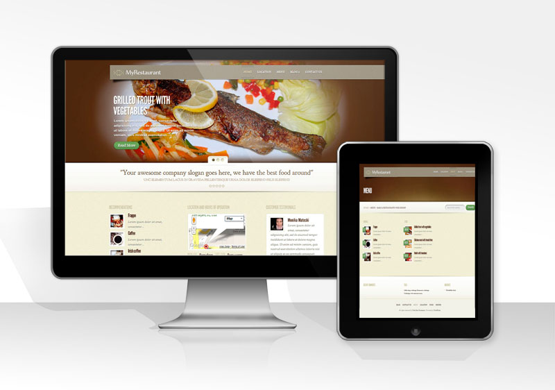 Web Design Proposal For Cafes And Restaurants