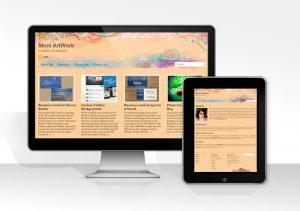web design for moni artwork