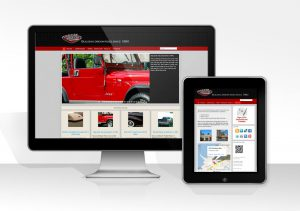 web design and marketing services for a client