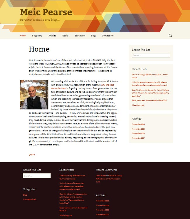 Personal website that does justice to the owner: snappy, social, SEO-ed.