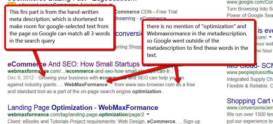 meta descriptions and why you should care