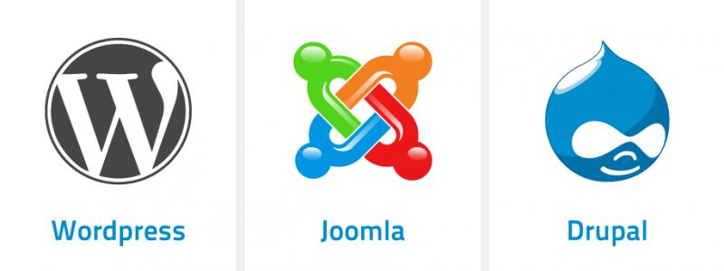 WordPress vs. Joomla vs. Drupal CMS