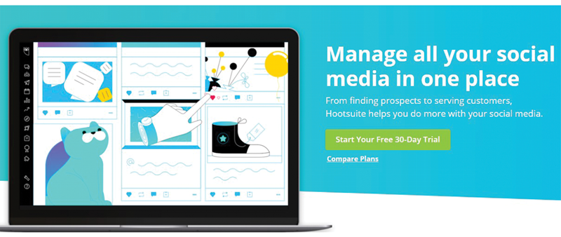 Hootsuite social media automation tool