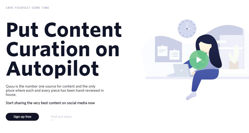 quuu social media automation tool