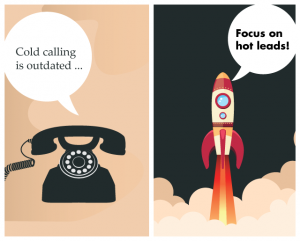 commercial real estate lead generation cold calling vs hot leads