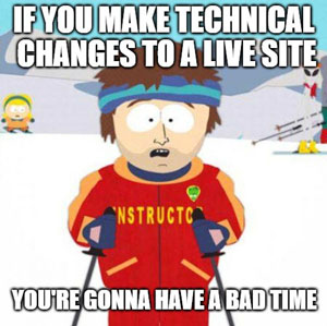 technical-changes-on-live-site